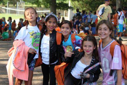 group of girls at summer camp